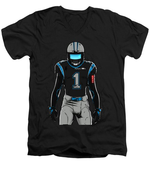 Sb L Carolina Men's V-Neck T-Shirt by Akyanyme
