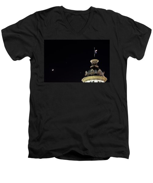 Sc State House Dome And Conjunction Men's V-Neck T-Shirt