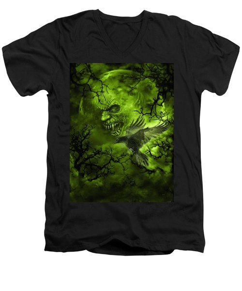 Scary Moon Men's V-Neck T-Shirt