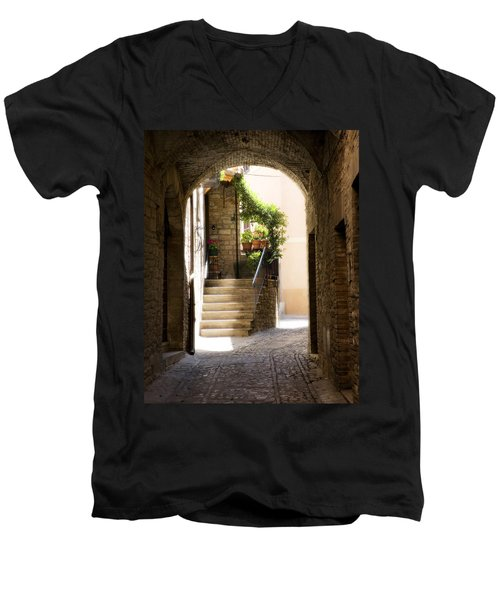 Scenic Archway Men's V-Neck T-Shirt by Marilyn Hunt