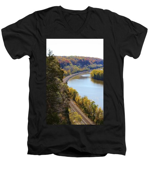 Men's V-Neck T-Shirt featuring the photograph Scenic View by Bruce Bley
