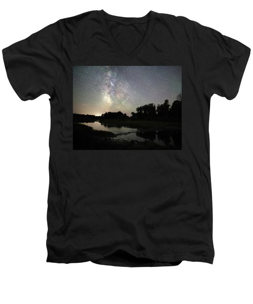 Schwabacher's Landing At Night Men's V-Neck T-Shirt
