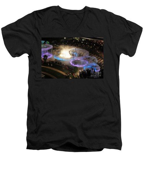 Scioto Mile Riverfront Park Men's V-Neck T-Shirt