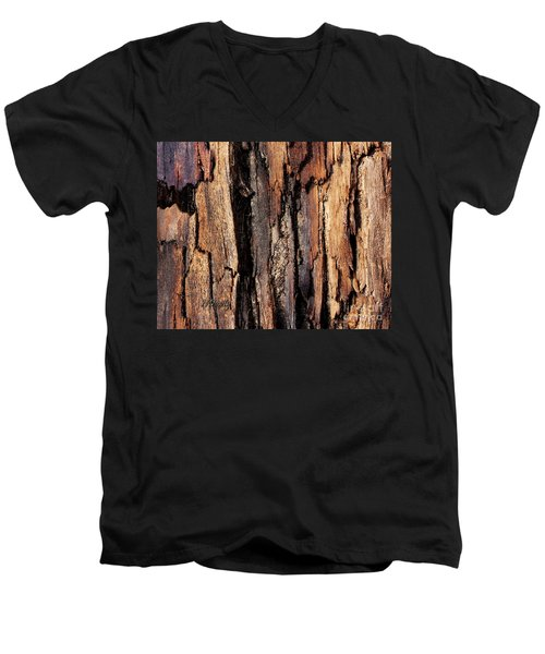 Scorched Timber Men's V-Neck T-Shirt