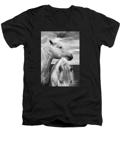 Scottish Horses Men's V-Neck T-Shirt by Diane Diederich