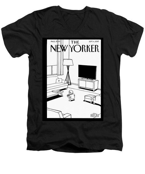 Screen Time Men's V-Neck T-Shirt