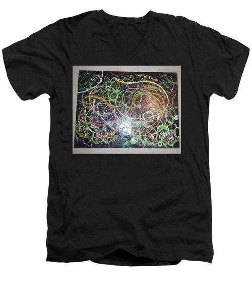Scribble Men's V-Neck T-Shirt by Talisa Hartley