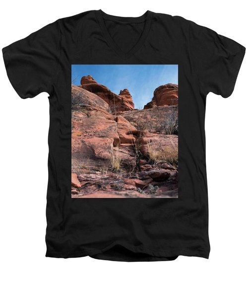 Sculpted Sandstone Men's V-Neck T-Shirt