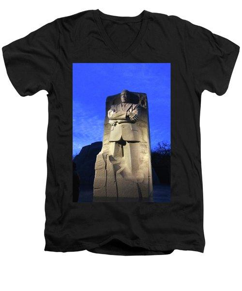 Sculptured Profile Martin Luther King Jr. Men's V-Neck T-Shirt