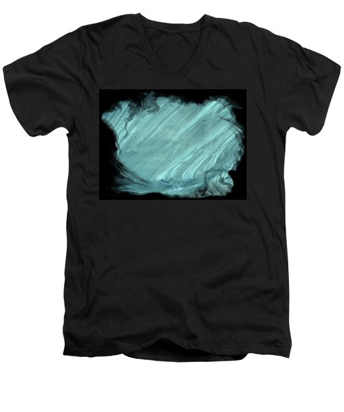 Men's V-Neck T-Shirt featuring the photograph Sea Blue by Athala Carole Bruckner