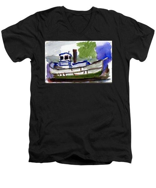 Sea Breeze Men's V-Neck T-Shirt by Tom Simmons