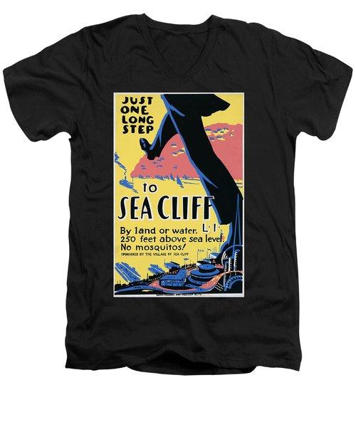 Sea Cliff Long Island Poster 1939 Men's V-Neck T-Shirt