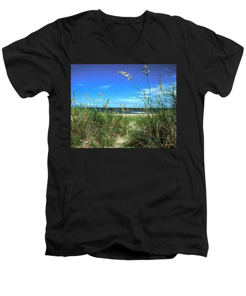 Sea Oat Dunes 11d Men's V-Neck T-Shirt