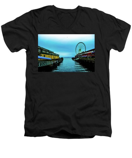 Sea Side, Seattle 2 Men's V-Neck T-Shirt