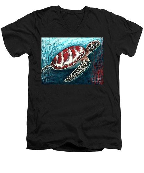 Sea Turtle Men's V-Neck T-Shirt