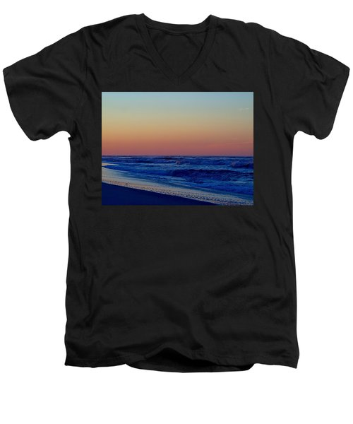 Men's V-Neck T-Shirt featuring the photograph Sea View by  Newwwman