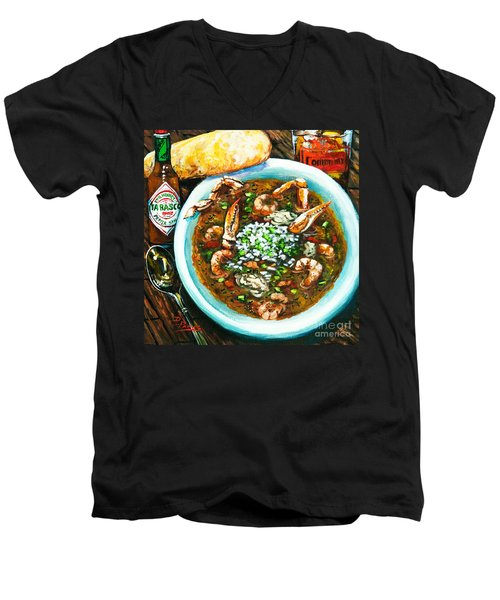 Seafood Gumbo Men's V-Neck T-Shirt