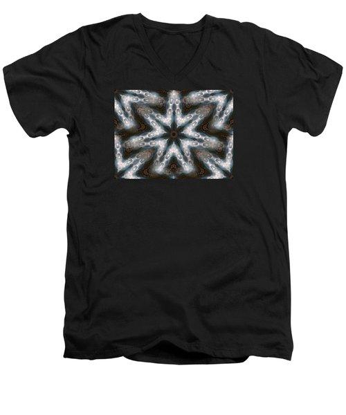 Seamless Mountain Star Men's V-Neck T-Shirt by Ernst Dittmar