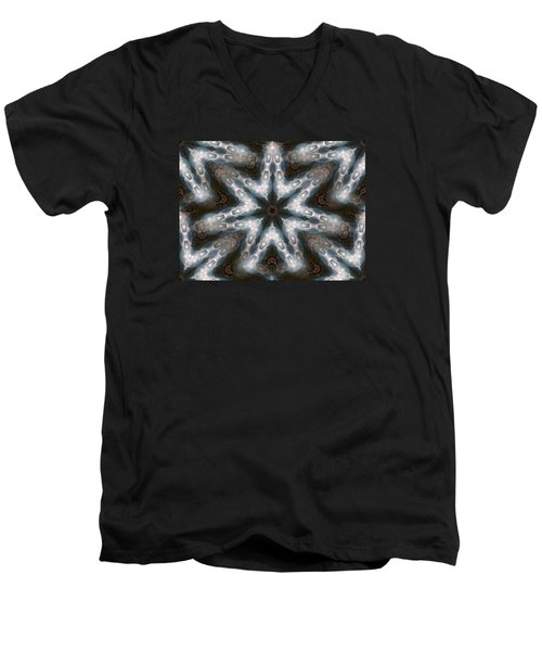 Seamless Mountain Star Men's V-Neck T-Shirt