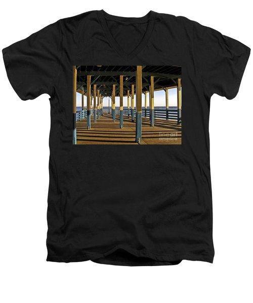 Seascape Walk On The Pier Men's V-Neck T-Shirt