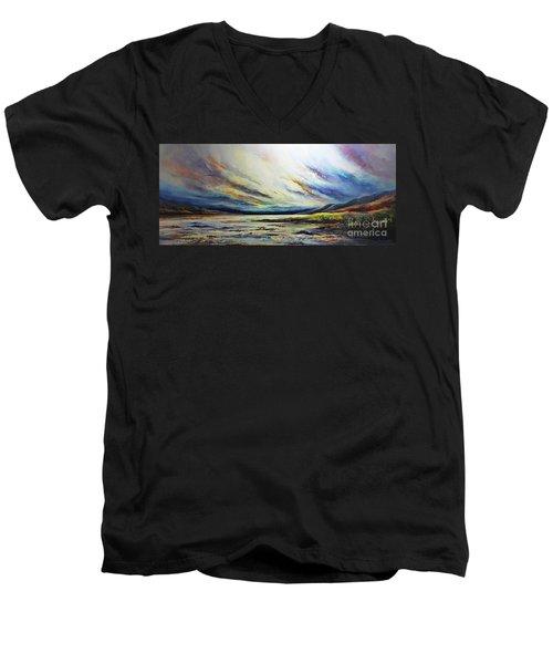 Seaside Men's V-Neck T-Shirt by AmaS Art