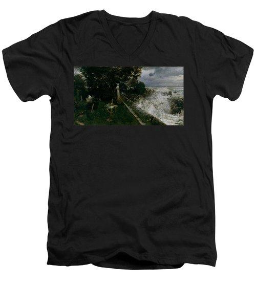 Seaside Cemetery Men's V-Neck T-Shirt