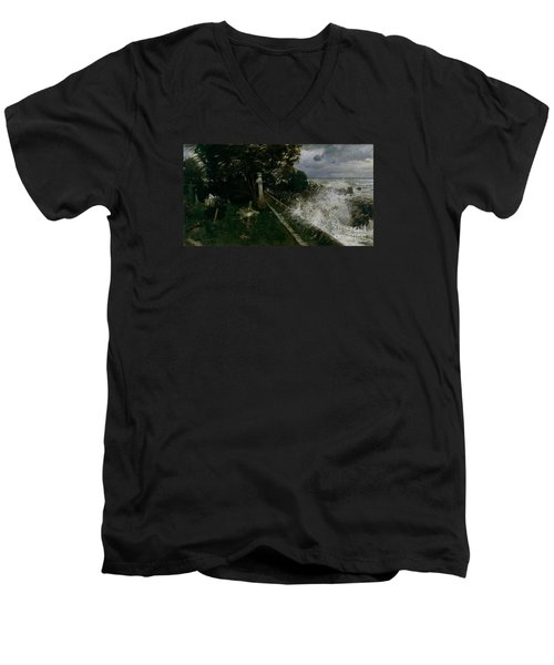Seaside Cemetery Men's V-Neck T-Shirt