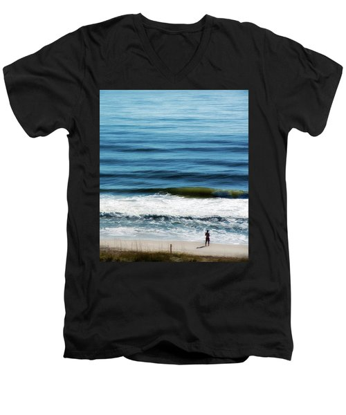 Seaside Fisherman Men's V-Neck T-Shirt
