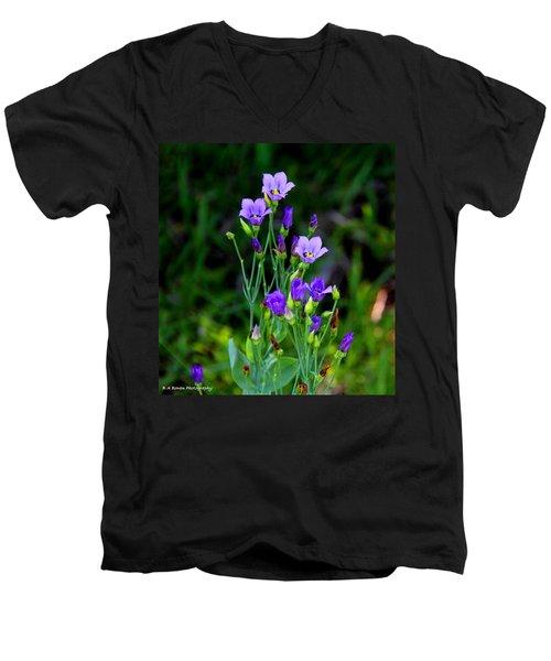 Seaside Gentian Wildflower  Men's V-Neck T-Shirt