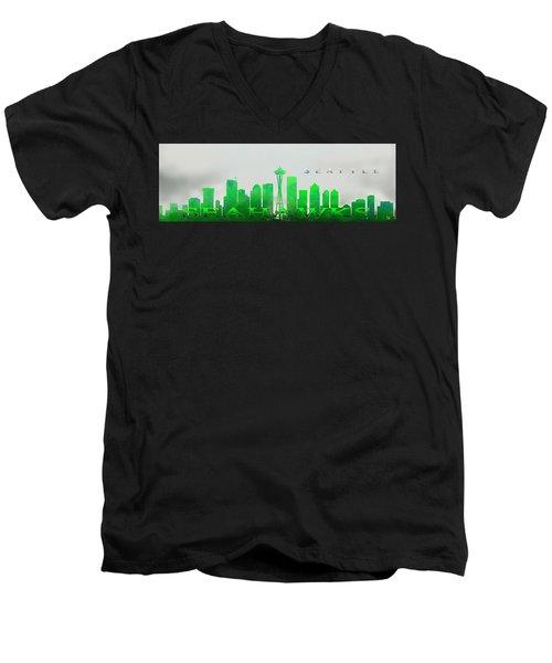 Seattle Greens Men's V-Neck T-Shirt