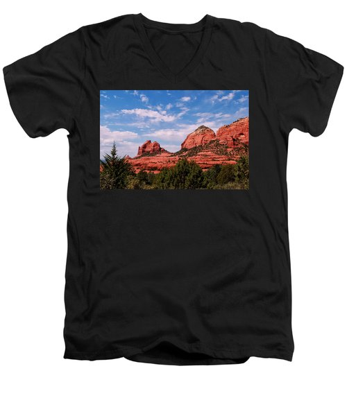 Sedona Az Men's V-Neck T-Shirt by Tom Prendergast