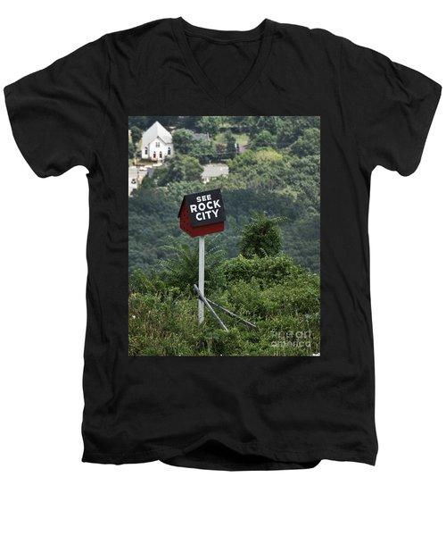 See Rock City Men's V-Neck T-Shirt