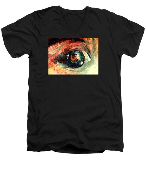 See Through Men's V-Neck T-Shirt