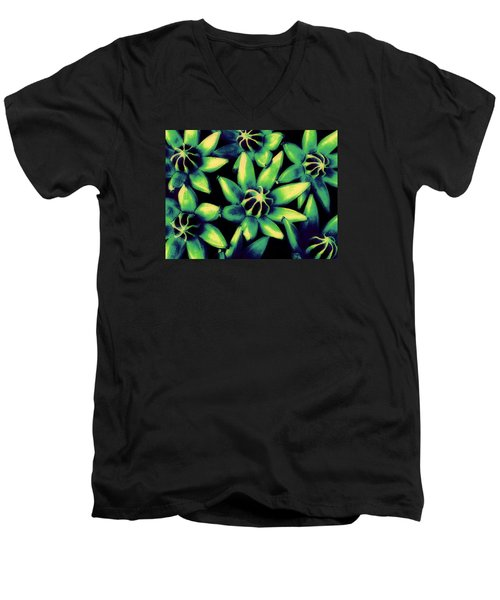 Men's V-Neck T-Shirt featuring the photograph Seed Pods by Ranjini Kandasamy