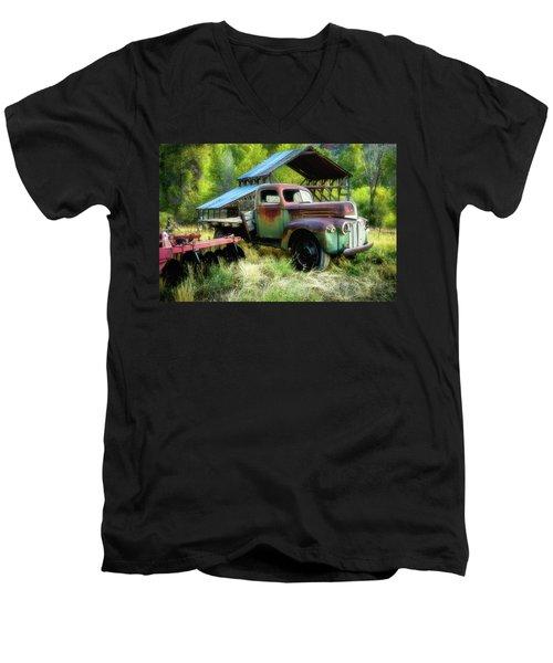 Seen Better Days - Ford Farm Truck Men's V-Neck T-Shirt