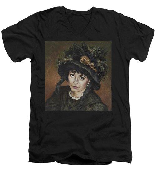 Self-portrait A La Camille Claudel Men's V-Neck T-Shirt by Yvonne Wright