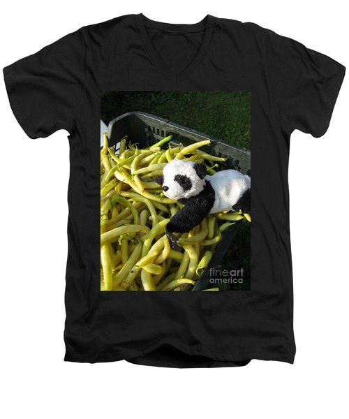 Men's V-Neck T-Shirt featuring the photograph Selling Beans by Ausra Huntington nee Paulauskaite