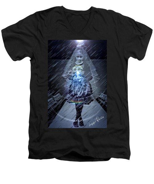 Selling Children Men's V-Neck T-Shirt by Vennie Kocsis