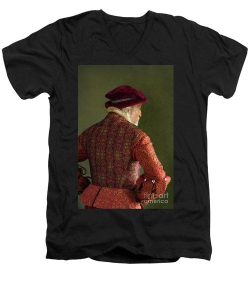 Senior Tudor Man Men's V-Neck T-Shirt by Lee Avison