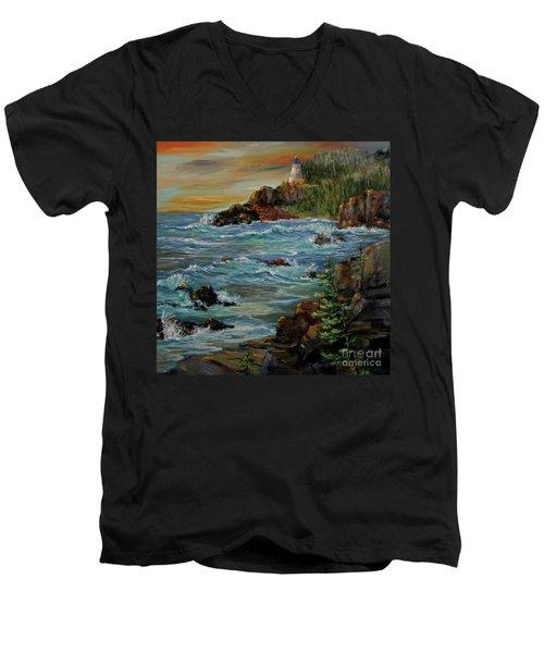 Sentry Men's V-Neck T-Shirt by Roseann Gilmore