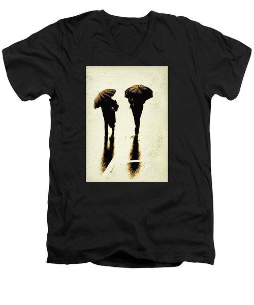 Sepia Rain Men's V-Neck T-Shirt