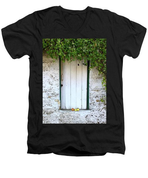 Serendipitous Door Men's V-Neck T-Shirt by Russell Keating