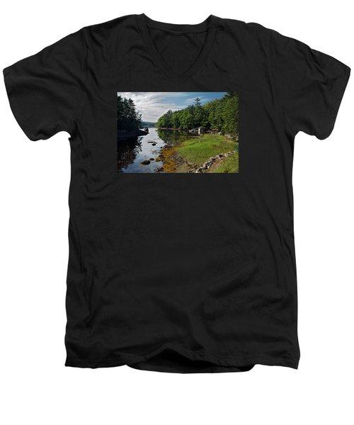 Serene Backyard Men's V-Neck T-Shirt