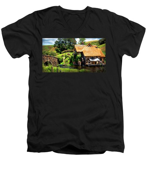 Serenity In The Shire Men's V-Neck T-Shirt