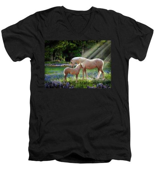 Serenity Men's V-Neck T-Shirt by Melinda Hughes-Berland