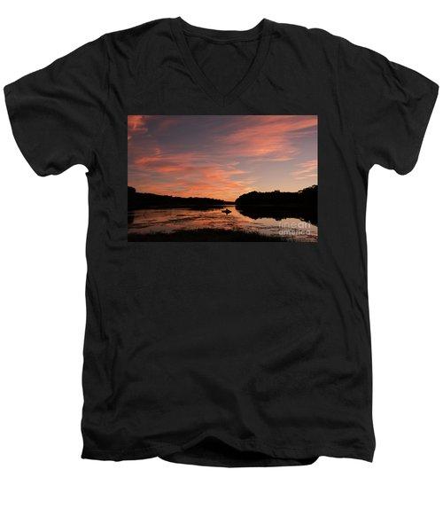 Serenity Men's V-Neck T-Shirt by Nicki McManus