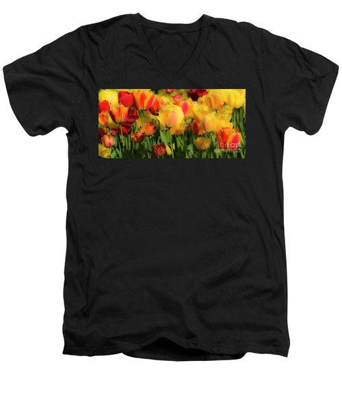 Men's V-Neck T-Shirt featuring the photograph Seriously Spring by Wendy Wilton