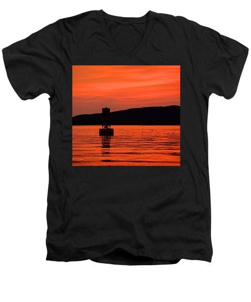 Setting Sun I Men's V-Neck T-Shirt