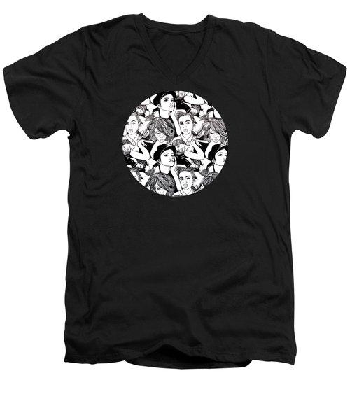 Seven Beauties Men's V-Neck T-Shirt