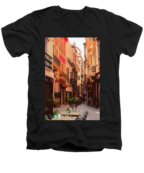 Seville, The Colorful Streets Of Spain - 02 Men's V-Neck T-Shirt